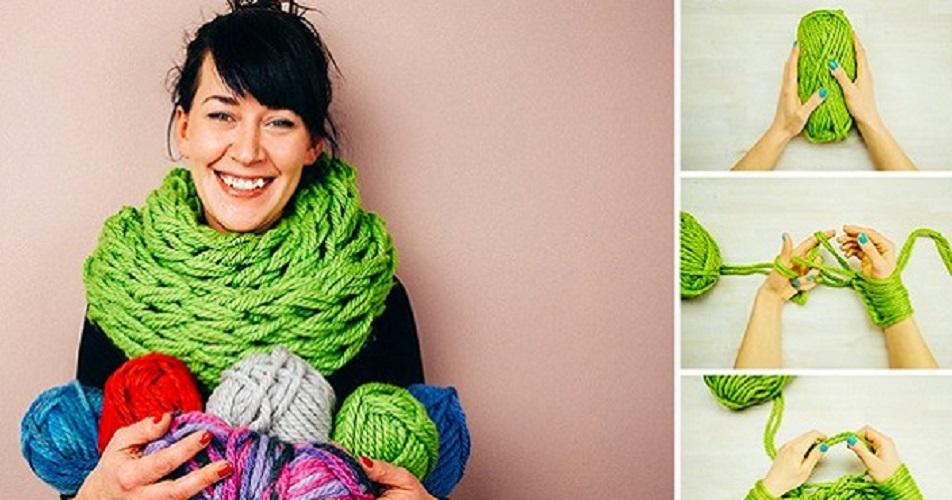 Способы вязания шарфов 36
